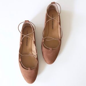 Lucky Brand Aviee Lace-Up Ballet Flat Size 6.5
